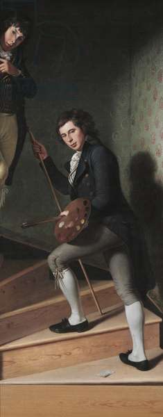 The Staircase Group, 1795 (oil on canvas)