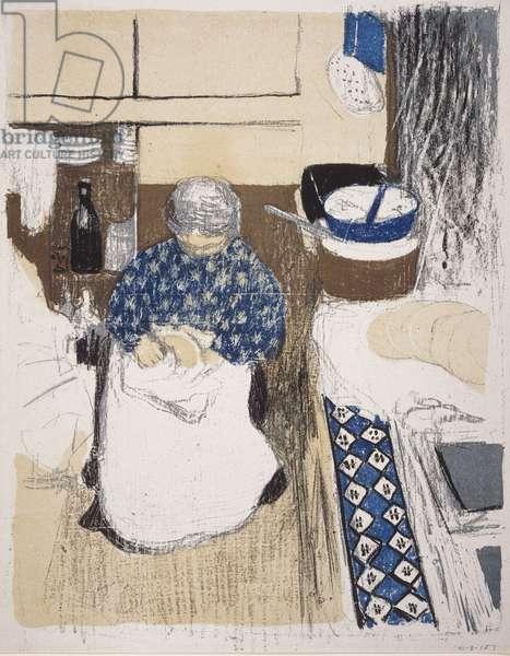 The Cook, illustration from the album 'Paysages et Intérieurs' (Landscapes and Interiors) c.1898-99 (colour litho)