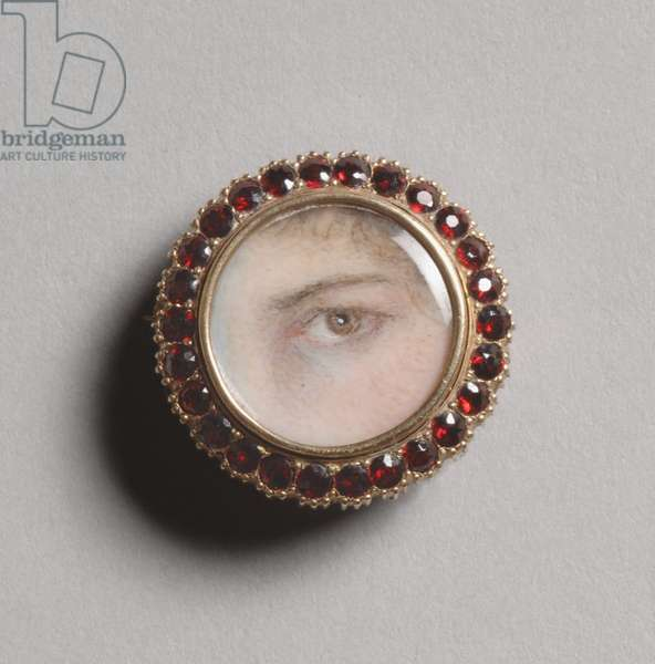 Portrait of a Woman's Left Eye, c.1800-1810 (w/c on ivory)