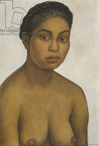 Nieves Orozco, 1939 (gouache on canvas, mounted on panel)