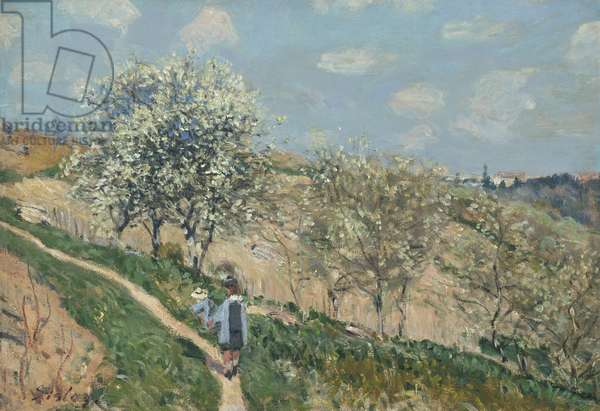 Landscape (Spring at Bougival), c.1873 (oil on canvas)