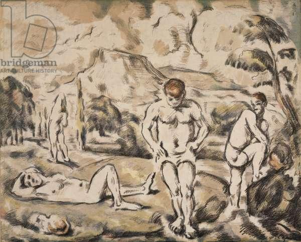 The Bathers (Large Version) 1896-98 (colour litho)