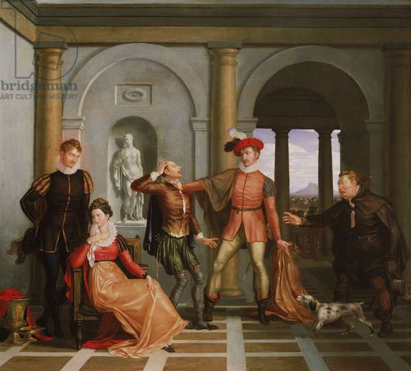 """Scene from Shakespeare's """"The Taming of the Shrew"""" (Katharina and Petruchio), 1809 (oil on canvas)"""
