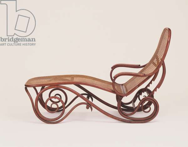 Chaise Longue, dummy No. 2 (bent beechwood, caning)