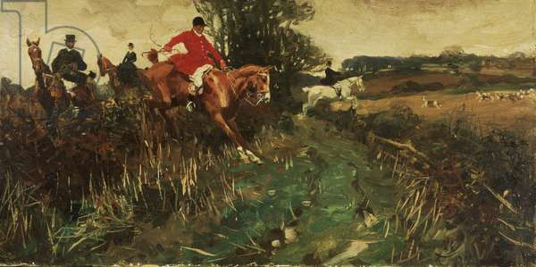 Racing for the Kill, 1902 (oil on canvas)