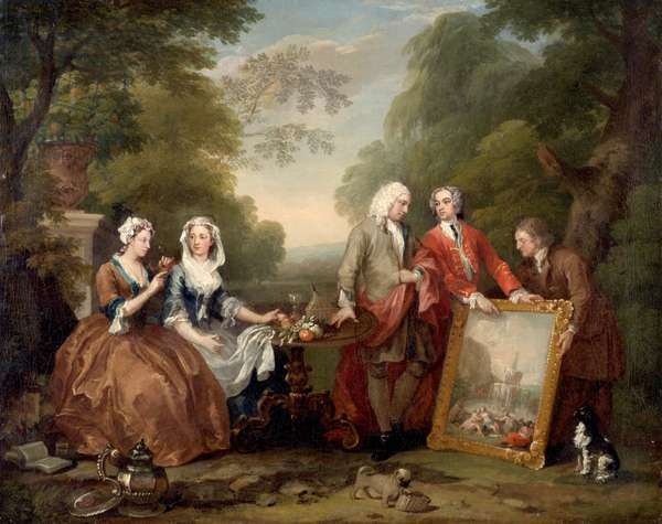Conversation Piece (Sir Andrew Fountaine with Other Men and Women) c.1730-35 (oil on canvas)