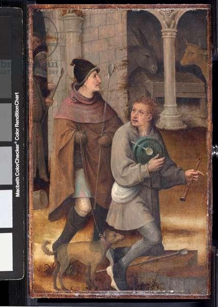 Two Shepherds (oil on panel)