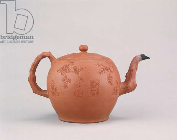 Teapot, made in Staffordshire, c.1765 (unglazed stoneware)