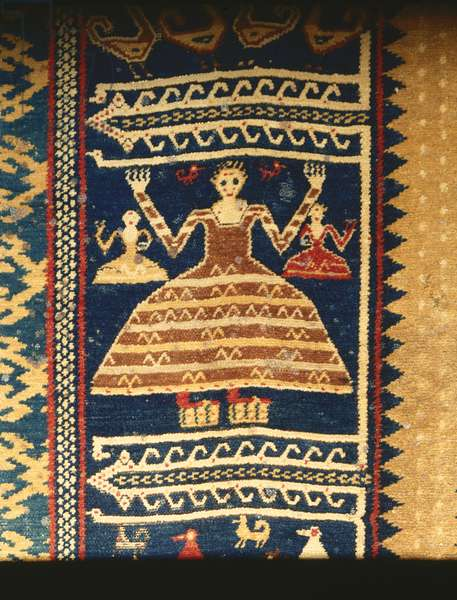 Detail from the 'Admiral' Heraldic Carpet, c.1429-73 (wool)