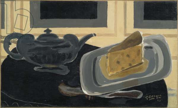 A Teapot and a Plate of Cheese, 1942 (oil on canvas)