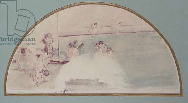 The Foyer of the Dance, c.1880 (w/c & monotype on paper)