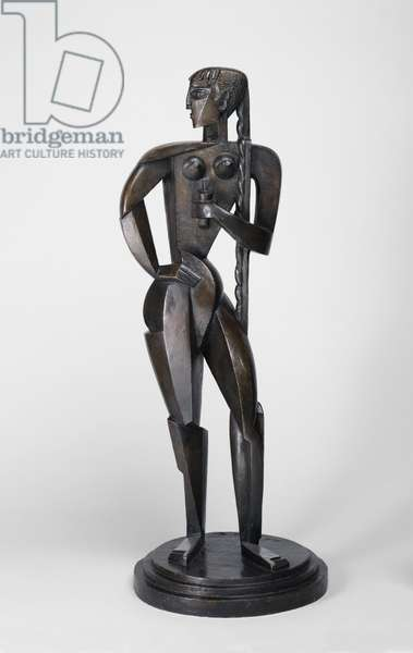 Woman with Braid, 1914 (bronze)