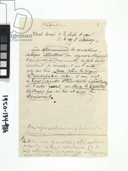 Notes, from 'The Bride Stripped Bare by her Bachelors, Even - The Green Box, 1934 (ink on paper)