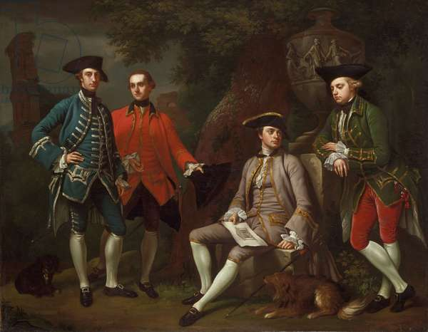 Conversation Piece (Portrait of James Grant of Grant, John Mytton, the Honorable Thomas Robinson, and Thomas Wynne)