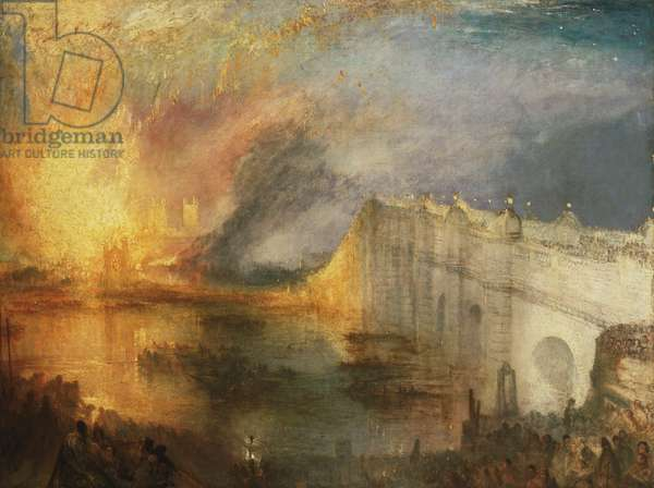 The Burning of the Houses of Lords and Commons, 16th October, 1834 (oil on canvas)