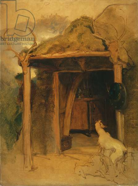 Duchess of Bedford's Hut, Glenfeshie, mid-19th century (oil on panel)