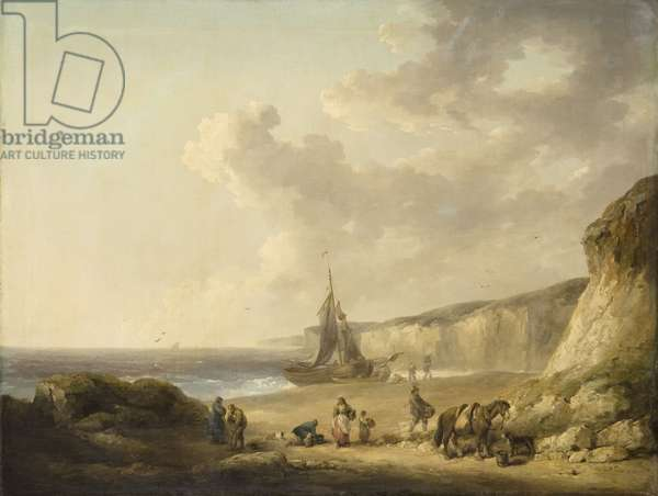 Coastal Scene with Smugglers, 1790 (oil on canvas on panel)