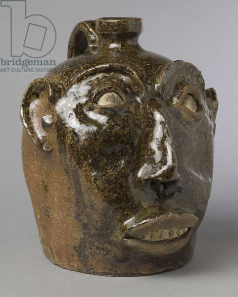 Face vessel, c.1860-70 (glazed stoneware)