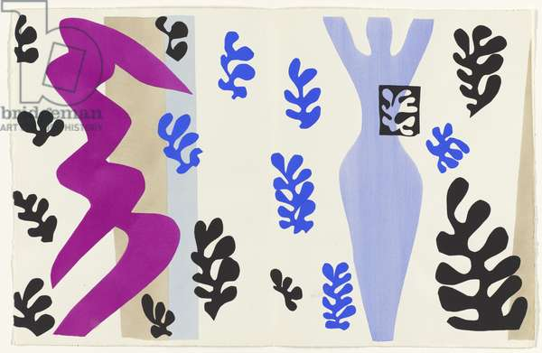 The Knife Thrower, illustration from the portfolio 'Jazz', 1947 (colour stencil print)