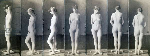 Study of a standing nude woman by thomas cowperthwait eakins