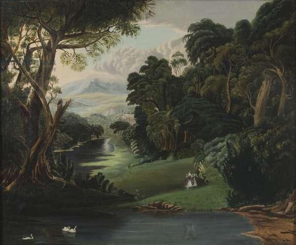 Romantic Landscape, c.1850 (oil on canvas)