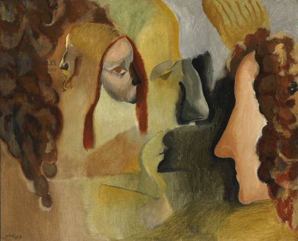 Yvonne and Magdeleine Torn in Tatters, 1911 (oil on canvas)