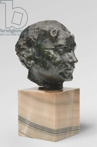 Head of a Funerary Spirit, modeled c.1898, cast by Alexis Rudier (1874-1952), 1926 (bronze)