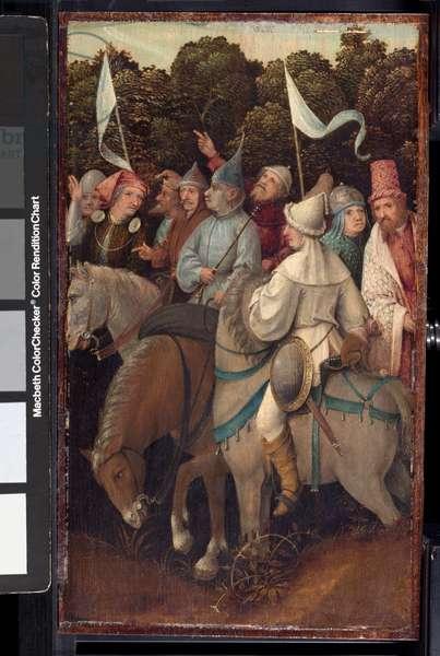 Retinue of the Magi (oil on panel)