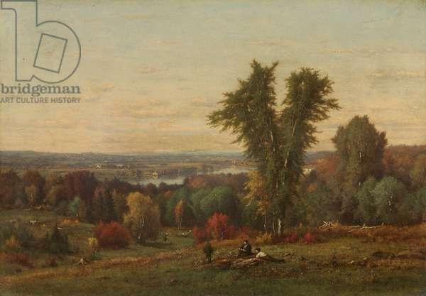 Landscape, 1868 (oil on academy board)