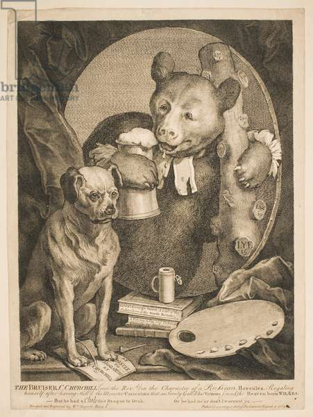 The Bruiser, 1763 (etching)