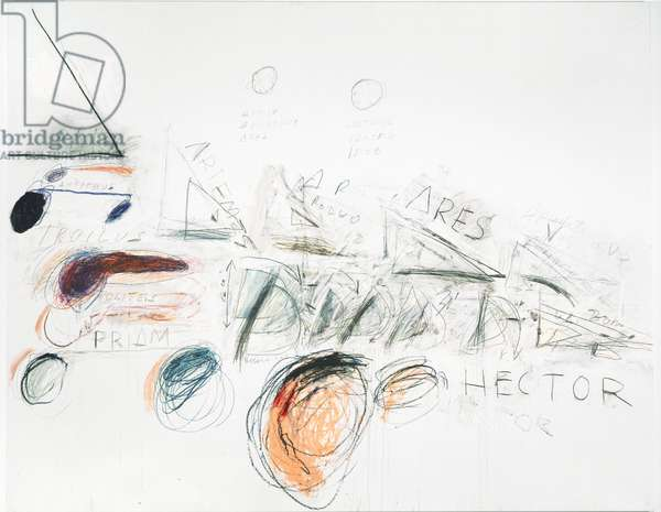 Fifty Days at Iliam: Ilians in Battle, 1978 (oil, oil crayon & graphite on canvas)