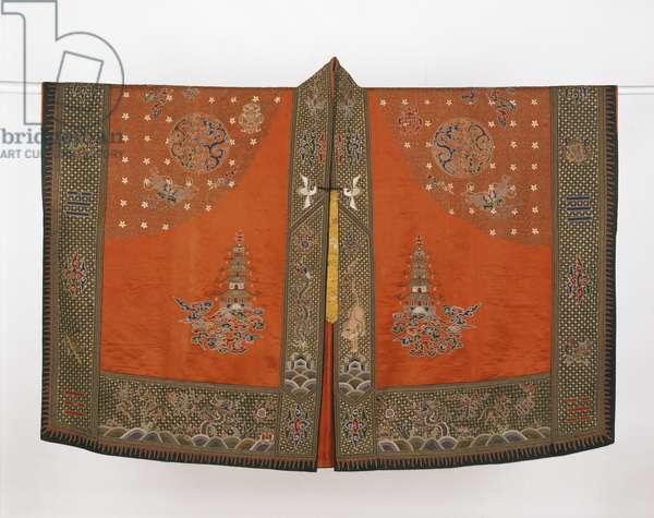 Daoist Priest's Robe, c.1850-1900 (silk satin with silk & gilt thread embroidery)