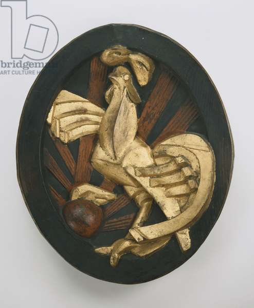Rooster (Gallic Cock), 1916 (painted bronze)