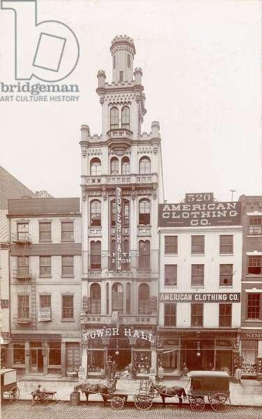 Tower Hall, 518 Market Street, c.1898 (b/w photo)