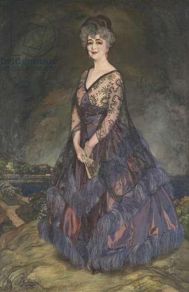 Portrait of Mrs William Fahnestock, 1923 (oil on canvas)