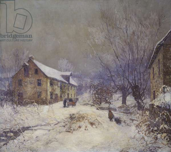 The Day before Christmas, 1919 (oil on canvas)