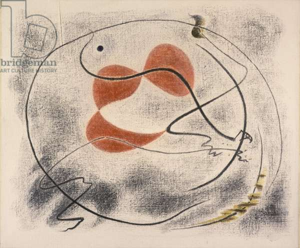 Animal Caught in a Trap, 1929 (crayon on canvas)