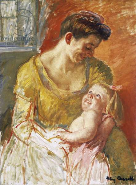 Mother and Child, 1908 (oil on canvas)