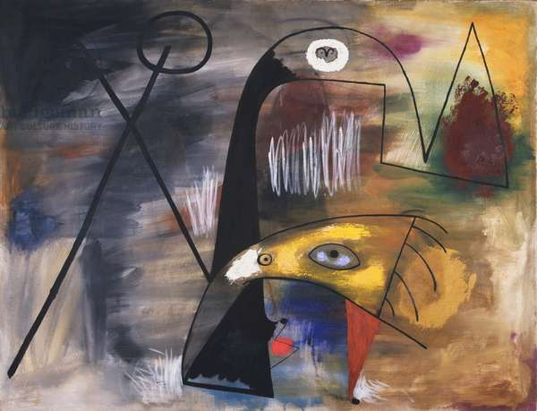 Man, Woman and Child, 1931 (oil and aqueous medium on canvas)