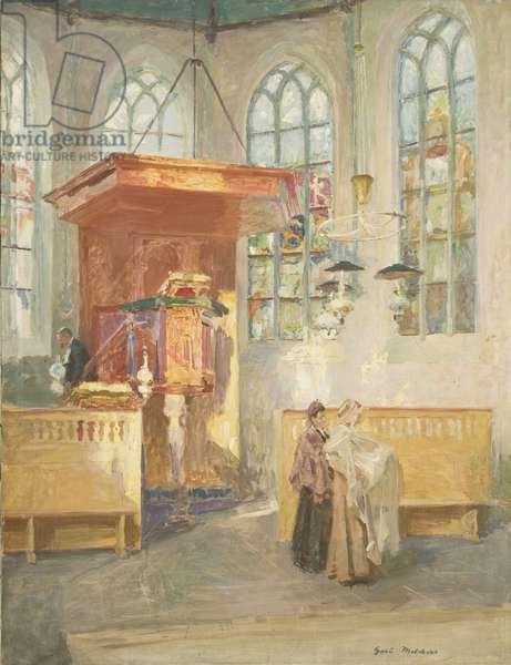Baptism (Church Interior) c.1900 (oil on canvas)