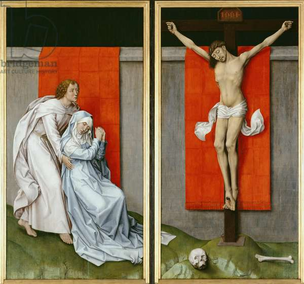 The Crucifixion, with the Virgin and Saint John the Evangelist Mourning, c.1460 (oil on panel)
