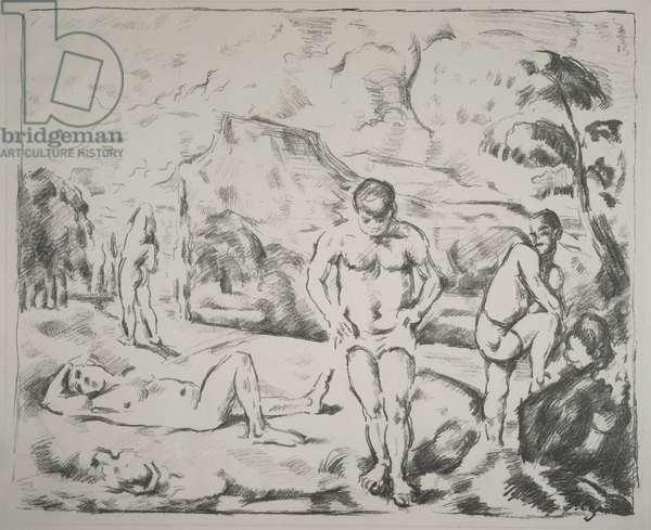 The Bathers (Larger Version) 1896-97 (litho)