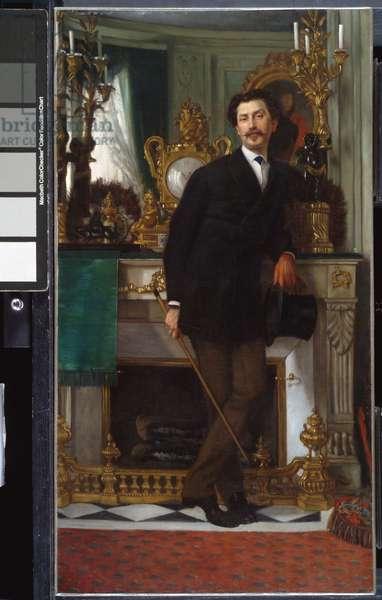 Portrait of Eugène Coppens de Fontenay, 1867 (oil on canvas)