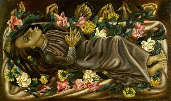 The Dead Girl, 1938 (oil on panel)