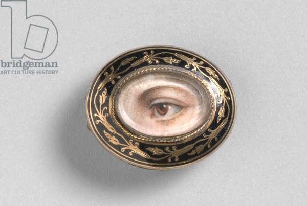 Portrait of a Left Eye, c.1800 (w/c on ivory)