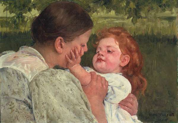 Maternal Caress, c.1896 (oil on canvas)