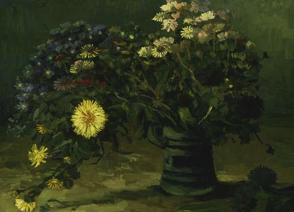 Still Life with a Bouquet of Daisies, 1884-85 (oil on canvas)
