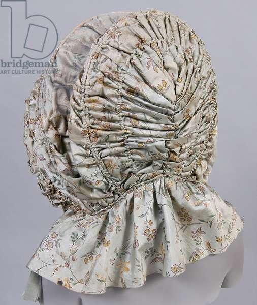 Woman's Calash, 1780-90 (silk taffeta, cane, wool & linen)