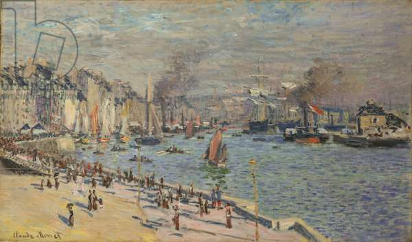 Port of Le Havre, 1874 (oil on canvas)