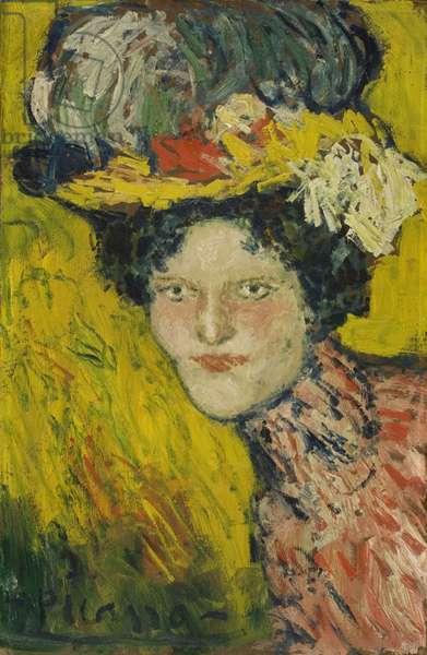 Head of a Woman, 1901 (oil on cardboard)
